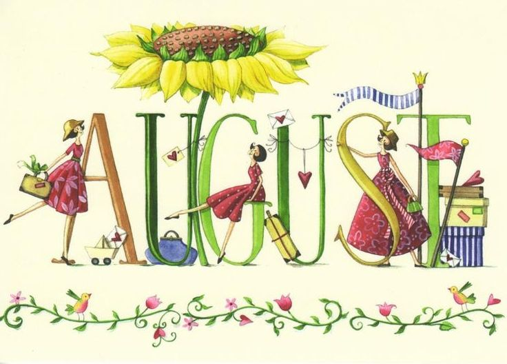 August images on hello august clip art.