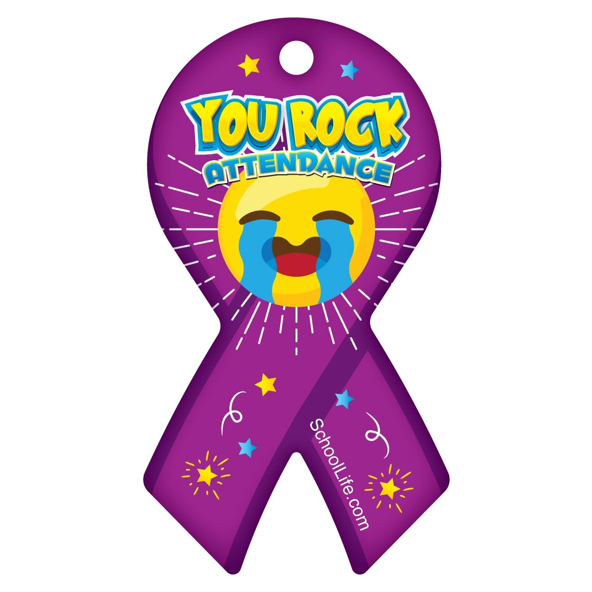August Perfect Attendance Award Ribbon Tag.