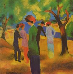 August Macke Interpretation.