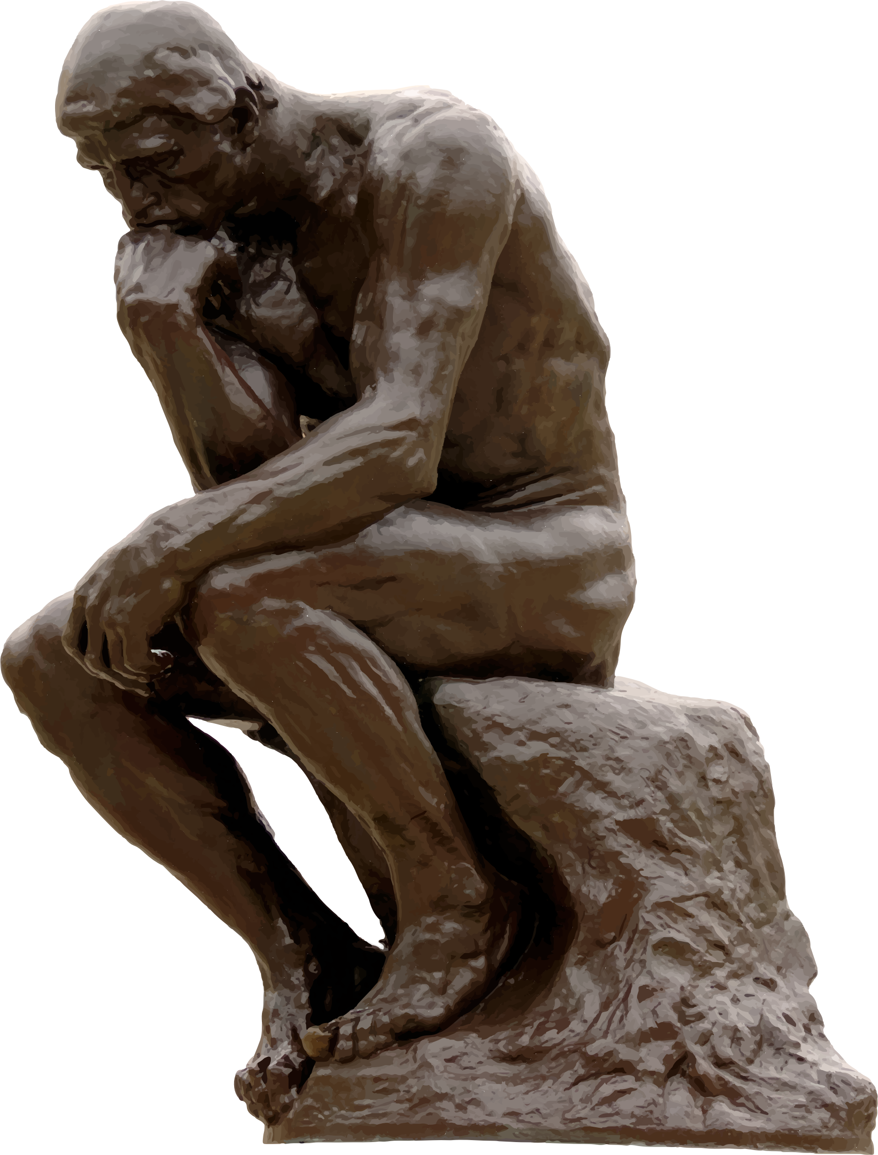Rodin The Thinker Clipart.