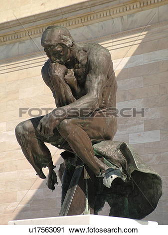 Stock Photography of Cleveland, OH, Ohio, Wade Park, Auguste Rodin.