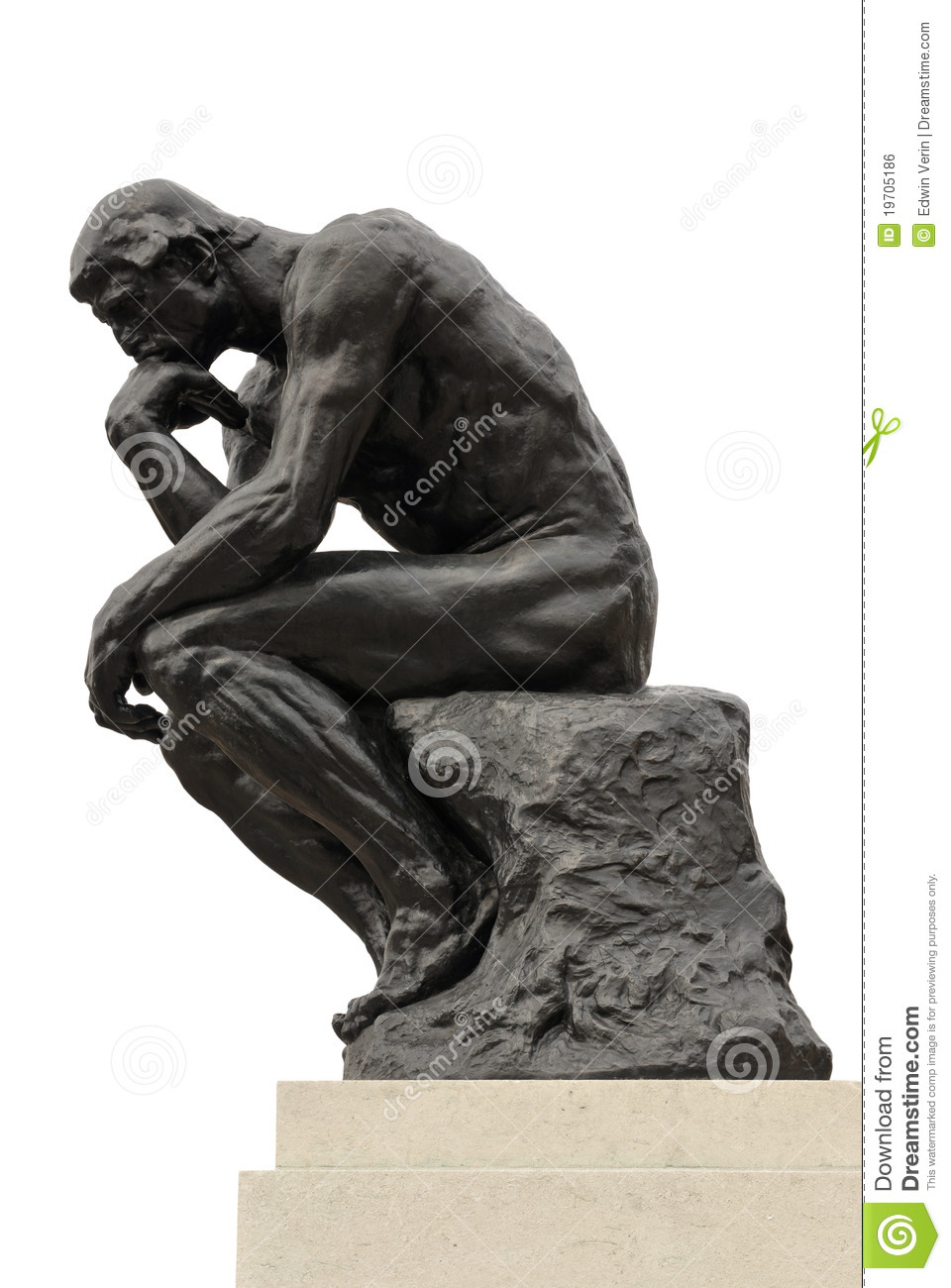 Statue Of The Thinker By Famous French Sculptor Auguste Rodin.
