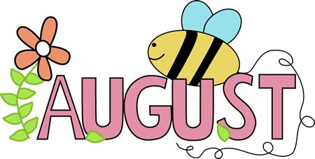 Month Of August Clipart.