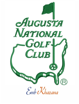 Augusta National Golf Club logo Embroidery Design.