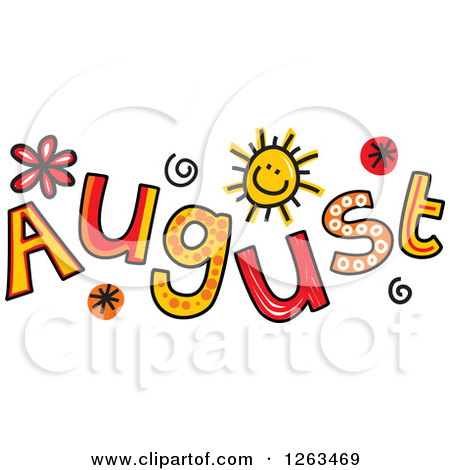 August Small Clipart.