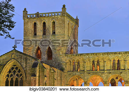 """Stock Photography of """"The ruins of Jedburgh Abbey, Augustinian."""