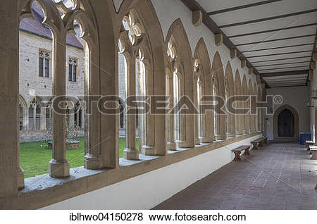 Pictures of Cloister in the Augustinian monastery, Martin Luther.