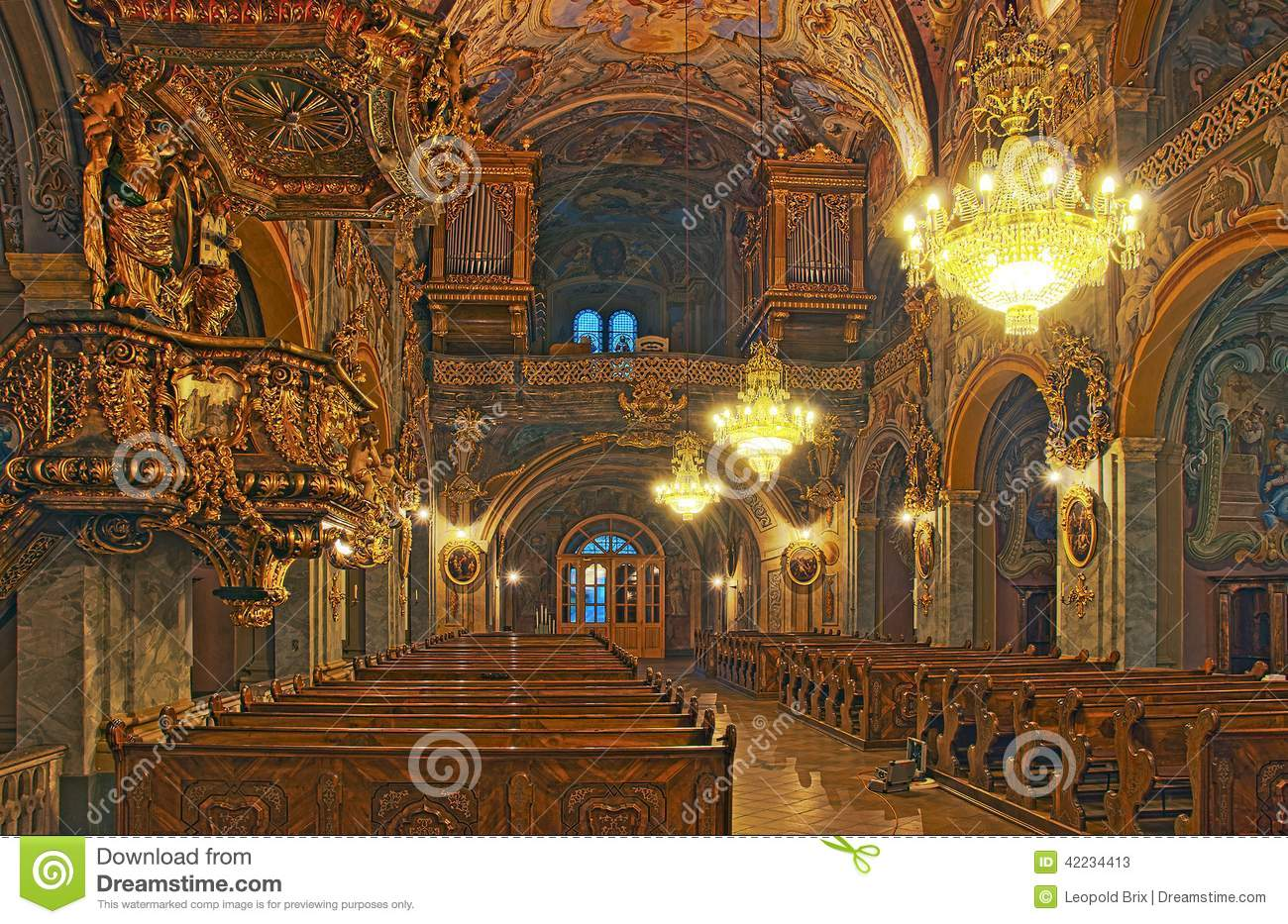 Baroque Interior, Church Of The Augustinian Monastery Vorau.