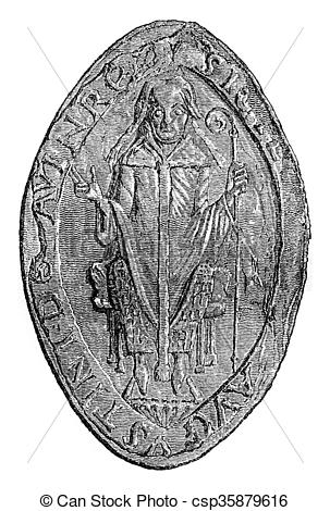 Clipart of Seal of the abbot of the monastery of St. Augustine.