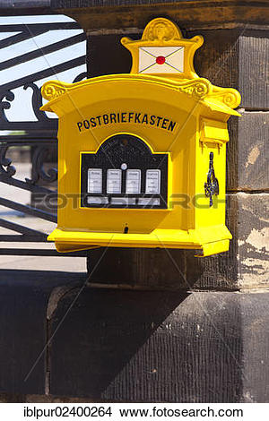 "Stock Photo of ""Historical mailbox at the Augustus Bridge in."