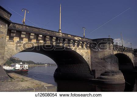 Stock Photo of bridge, Dresden, Germany, Sachen, Saxony, Europe.