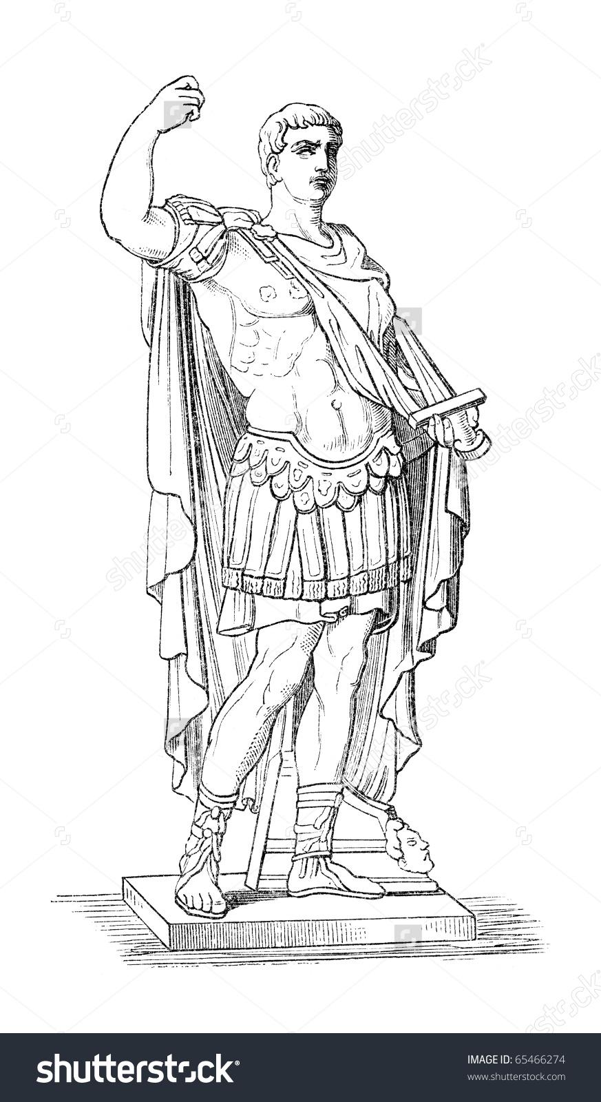 Augustus Aka Octavianus Aka Gaius Julius Stock Illustration.