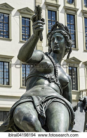 Stock Photo of Fountain figure of the water goddess of the river.
