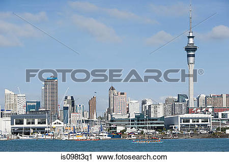 Stock Photography of Auckland skyline is098t3q1.
