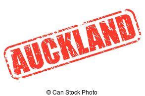 Vector of Auckland stamp.