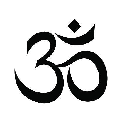OM OR AUM Indian Sacred premium clipart.