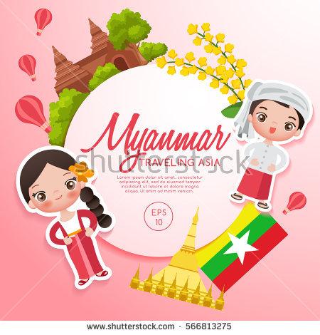 Myanmar Clothing Stock Photos, Royalty.