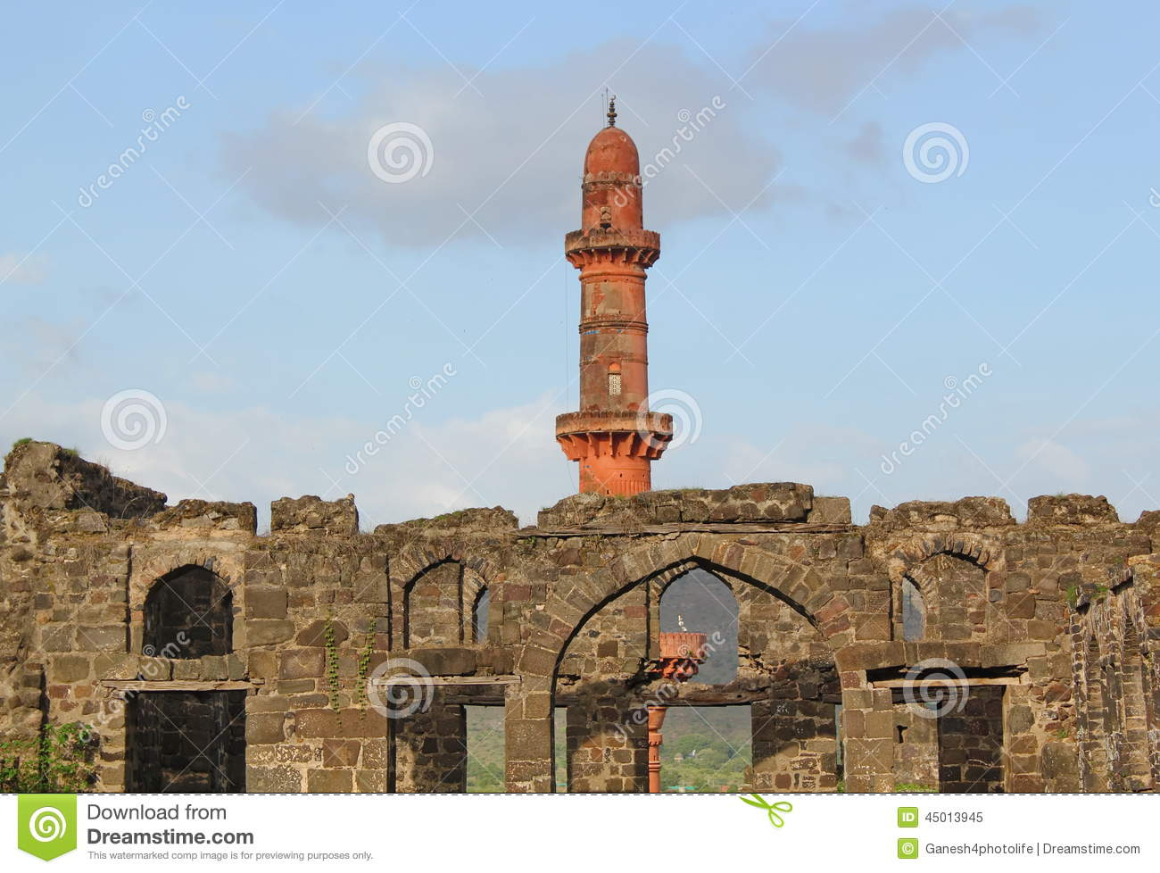 Daulatabad Fort, Aurangabad, India Editorial Image.