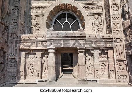 Ajanta caves photos clipart.