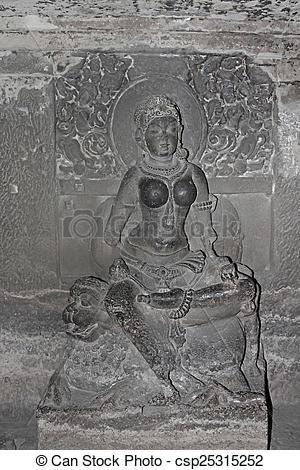 Stock Images of Indra Sabha, cave No. 32, Jain Cave, Ellora.