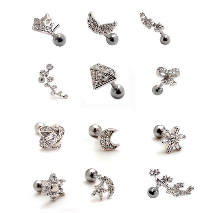 Meer dan 1000 ideeën over Ear Piercings Auricle op Pinterest.