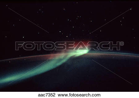 Stock Photo of The Aurora lights over the southern hemisphere.