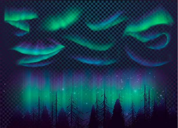 Best Northern Lights Illustrations, Royalty.