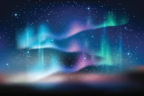 Best Aurora Borealis Illustrations, Royalty.