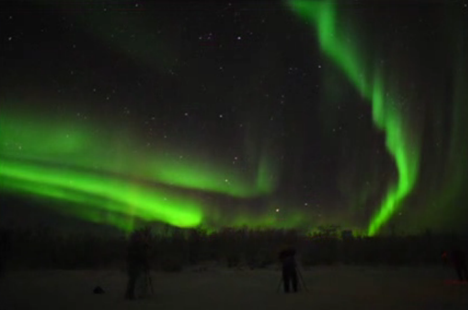 Northern lights aurora borealis put on a spectacular show in Sweden.