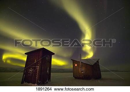 Stock Photo of Abisko, Sweden. The Abisko Ark Hotel With The.