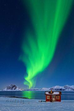 Pink Aurora Borealis See the aurora borealis.