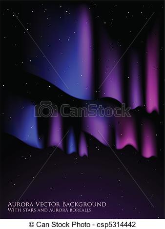 Vector Illustration of Aurora background.