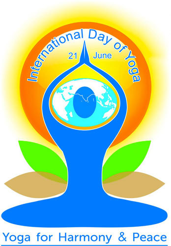 International Day of Yoga in Auroville.