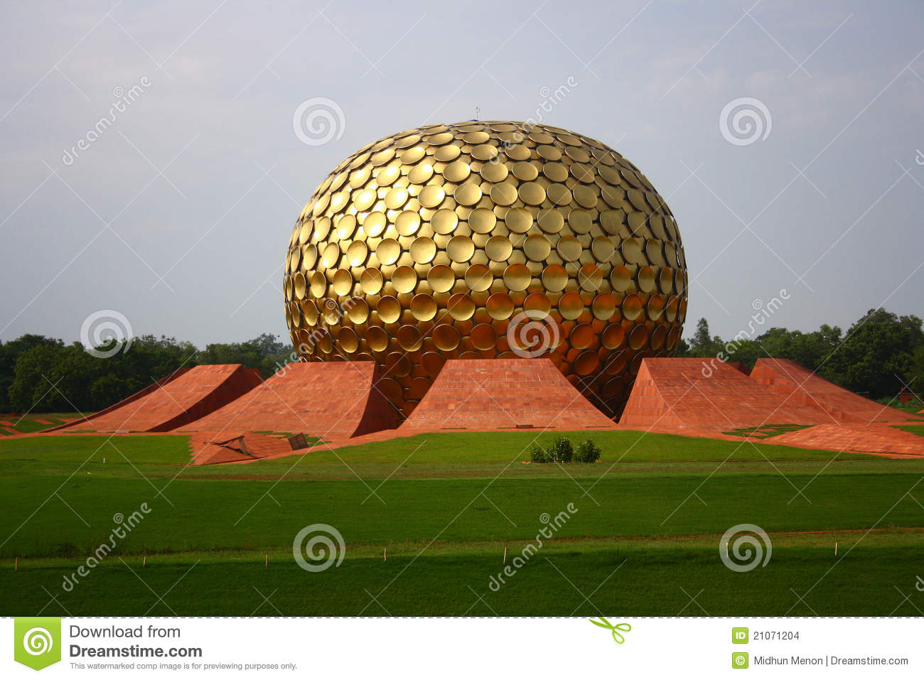 Matrimandir At Auroville, Pondicherry Stock Images.