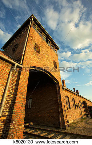 Stock Photography of Auschwitz.