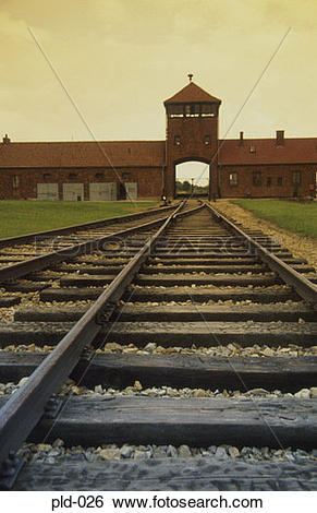 Stock Images of Approach to Auschwitz.