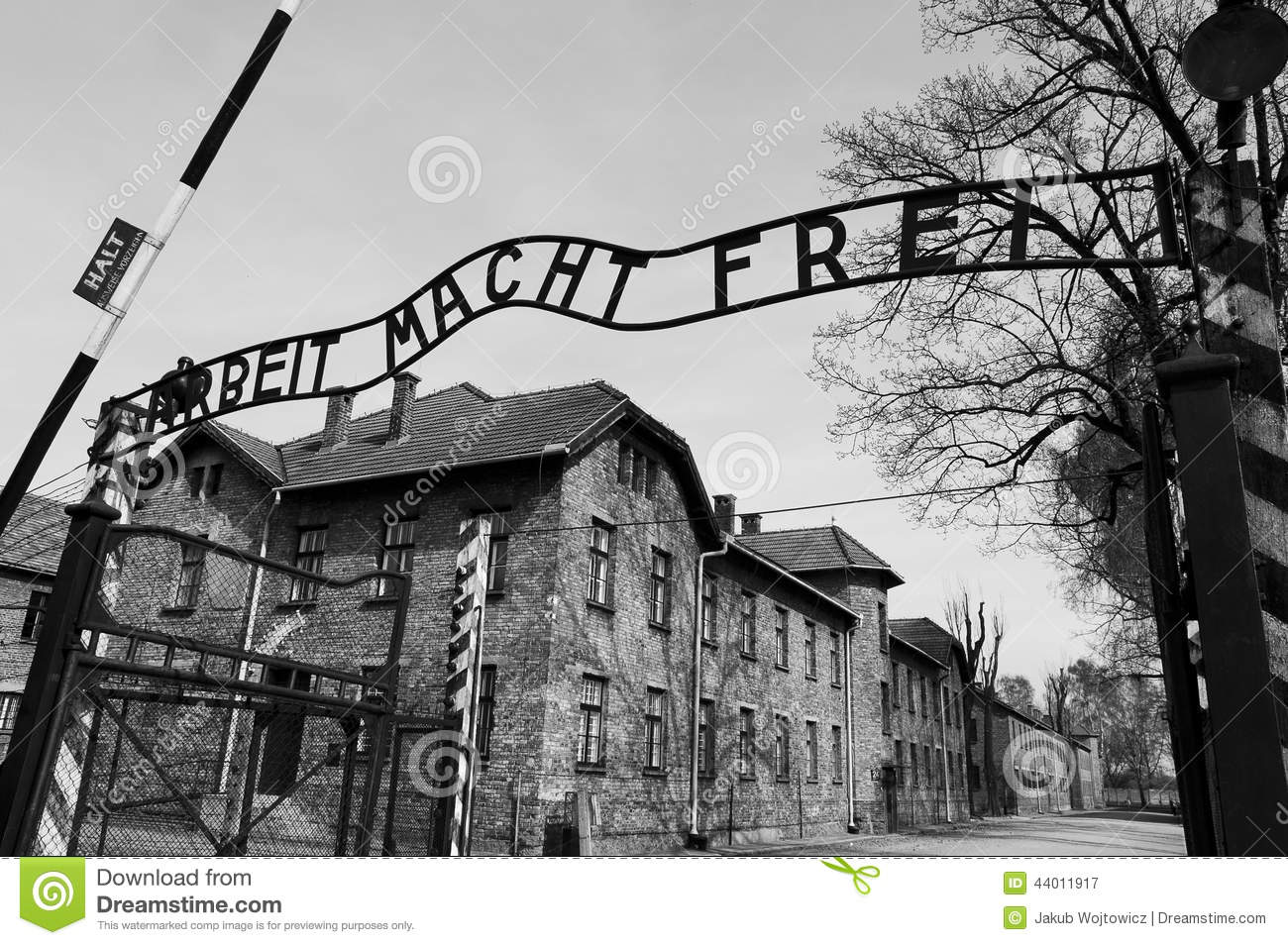 Auschwitz Concentration Camp Editorial Stock Image.