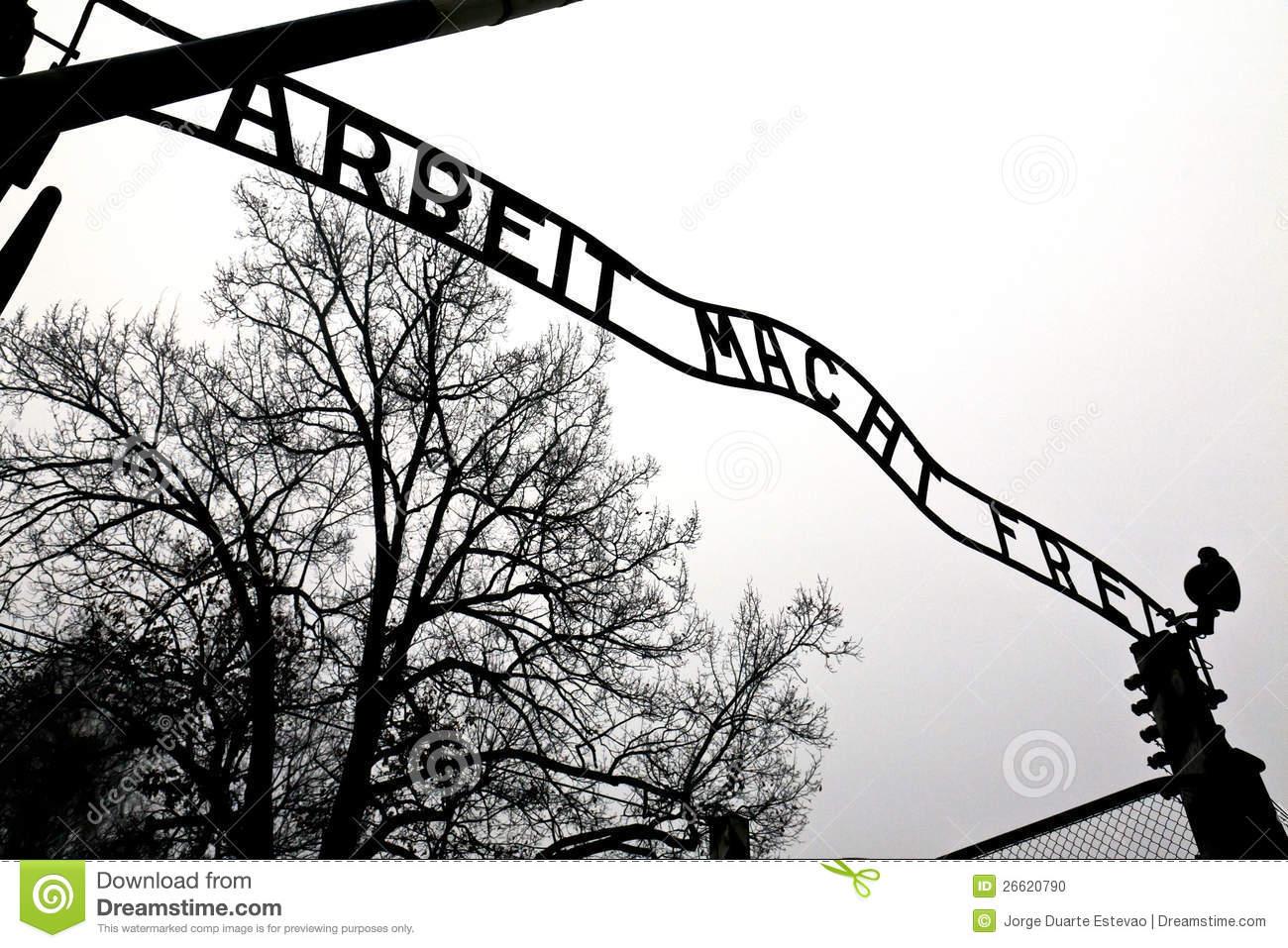 Auschwitz Entrance Gate Editorial Image.