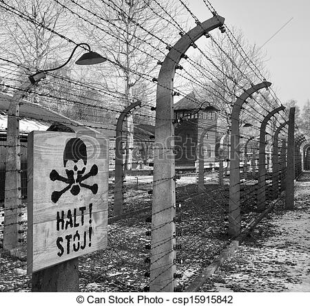 Stock Photo of Auschwitz Concentration Camp.