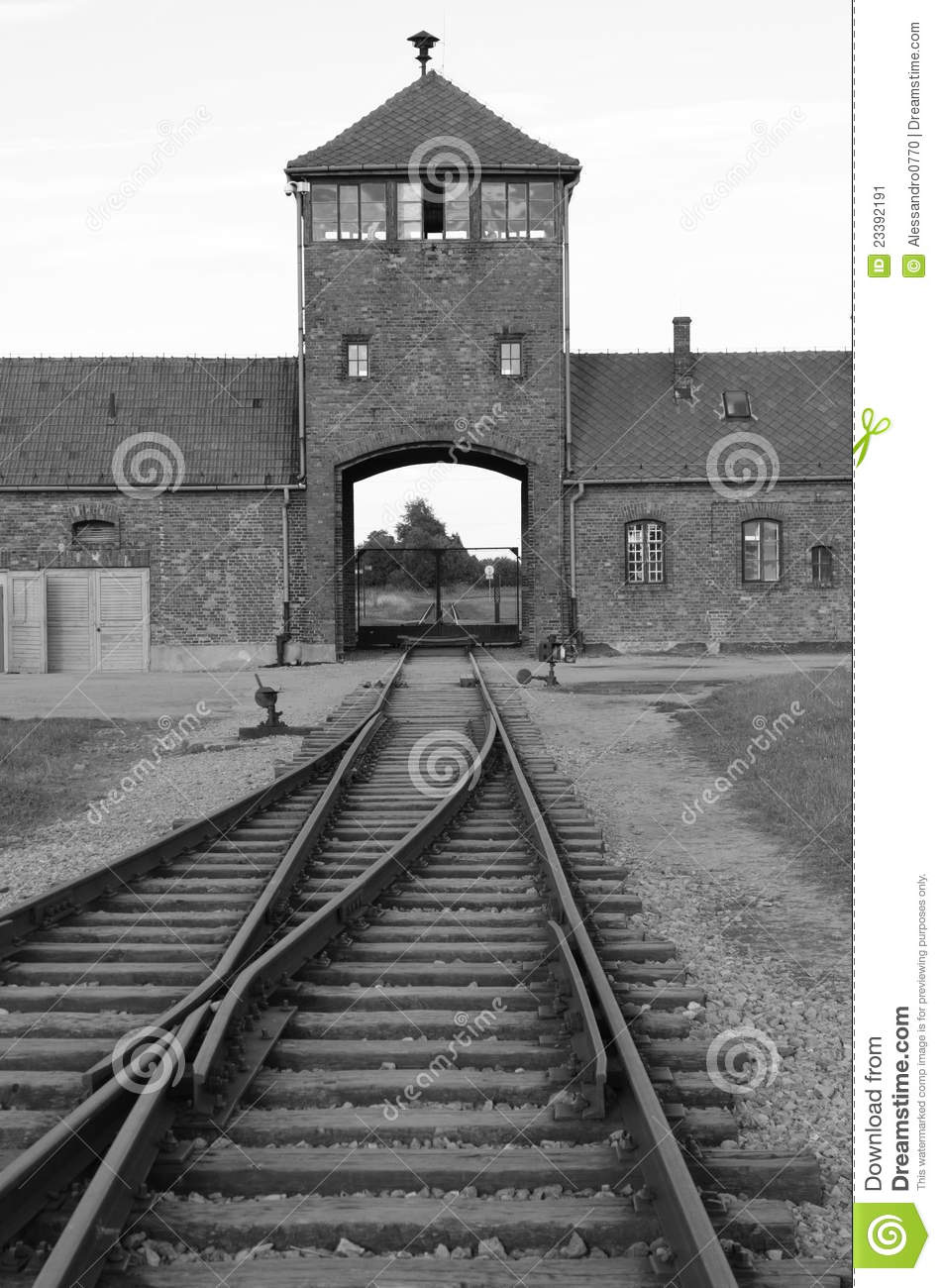 Main Entrance To Auschwitz Editorial Photo.