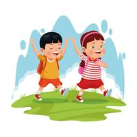 children on school field trip.