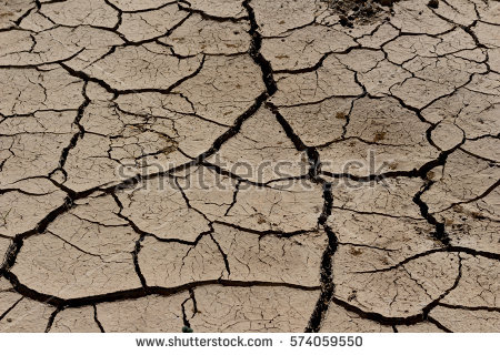 Cracked Ground Earthquake Background Texture Stock Foto 137805734.
