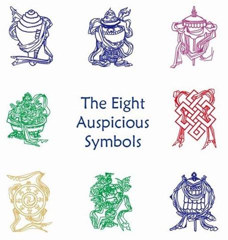 Eight Auspicious Symbols, Vector.