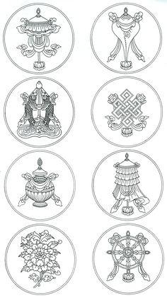 Eight Auspicious Symbols 2 X 4.