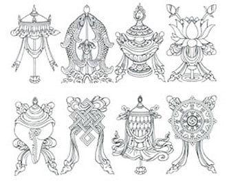 Meaning of The 8 Auspicious Symbols of Buddha.