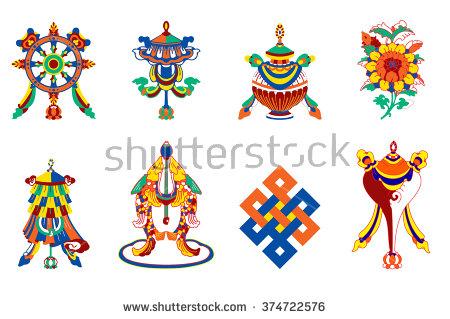 Buddhist Symbols Stock Photos, Royalty.