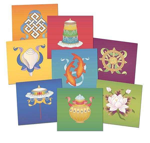 The Eight Auspicious Buddhist Symbols.