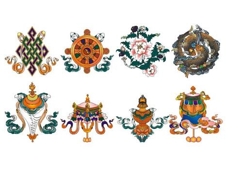 Eight Auspicious Symbols.