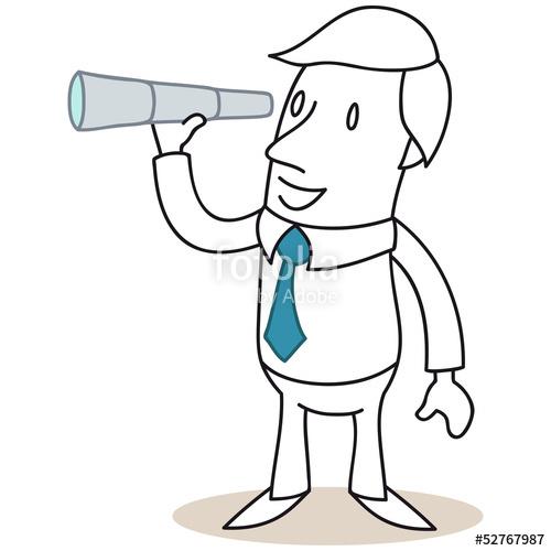 """Geschäftsmann, Fernrohr, Fernglas, Ausschau halten"""" Stock image."""
