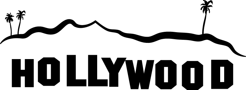 Hollywood sign clip art.